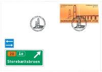 Danmark - Europa Storebæltsbroen - Førstedagskuvert med frimærker