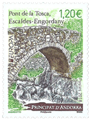 French Andorra - Europa 2018 - Bridges - Mint stamp