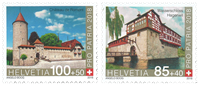 Schweiz - Slotte - Postfrisk sæt 2v