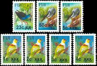 Fiji - Fugle - Postfrisk sæt 7v