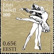 Estland - Ballet - Postfrisk frimærke