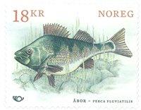 Norvège - Poissons nordiques - Perche - Timbre neuf, dessinée par Martin Mörck
