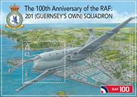 Guernsey - Royal Air Force 100 års jubilæum - Postfrisk miniark