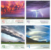 Australia - Cloudscapes - Mint set 4v
