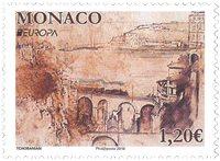Monaco - Europa 2018 - Ponts - Timbre neuf