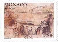 Monaco - Europa 2018 - bridges - Mint stamp