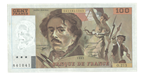 France - Bank note 100 Francs Delacroix 1978