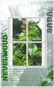 Saba - Regnskoven - Postfrisk miniark