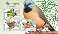 Australie - Fringilidés II - Bloc-feuillet neuf