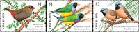 Australie - Fringilidés II - Série neuve 3v