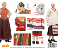 Finlande - Costumes nationaux - Bloc-feuillet neuf