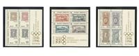 Grækenland - Olympiske lege - Postfrisk sæt á 3 miniark