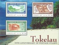 Tokelau - Frimærkejubilæum - Postfrisk miniark