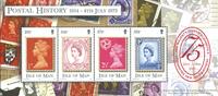 Île de Man - Jubilé du timbre - Bloc-feuillet neuf