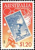 Australie - Timbre sur timbre - Timbre neuf