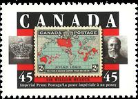 Canada - Timbre sur timbre - Timbre neuf