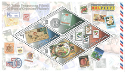 Malaisie - Timbres sur timbres - Bloc-feuillet neuf