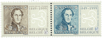 Belgien - Frimærker på frimærker - Postfrisk sæt 2v