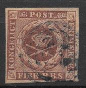 Danmark 1851 - AFA I - stemplet
