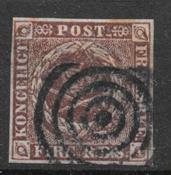 Danmark 1852 - AFA Ia - stemplet