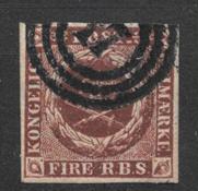 Danmark 1853 - AFA   IIb - stemplet