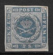 Danmark 1855 - AFA 3 - ustemplet