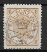 Danmark 1868 - AFA 14 - stemplet