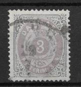 Danmark 1871 - AFA 17 - stemplet