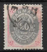 Danmark 1875 - AFA 28 - stemplet