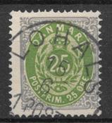 Danmark 1875 - AFA 29 - stemplet