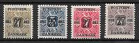 Danmark 1918 - AFA 85x-89x - ustemplet