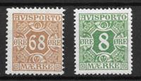 Danmark 1907 - AFA 7 + 14 - ustemplet
