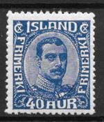 Islanti 1921 - AFA 103 - Postituore