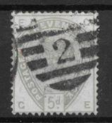Iso-Britannia 1883 - 78 AFA - Leimattu