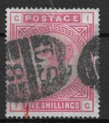 iso-Britannia 1883 - 83 AFA - Leimattu