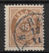 Islanti 1875 - AFA 9B - Leimattu