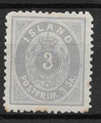 Islanti 1873 - AFA 5 - Käyttämätön