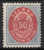 Islanti 1892 - AFA 16A - Käyttämätön