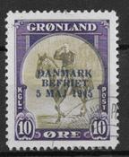 Grönlanti 1945 - 20 AFA - Leimattu
