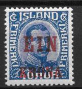 Islanti 1925 - AFA 121 - Käyttämätön