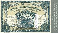 Groenland - Billet de banque bleu - Bloc-feuillet neuf