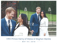 Guernesey - Mariage Prince Harry et Maghan Markle - Bloc-feuillet neuf