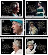 Aurigny - Reine Elizabeth 65 ans de règne - Série neuve 6v