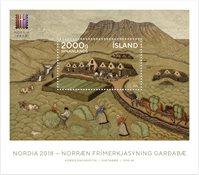 Island - Nordia 2018 - Postfrisk miniark
