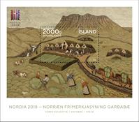 Iceland - Nordia 2018 - Mint souvenir sheet