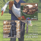 Jersey - Protección de los animales - Hoja bloque nuevo