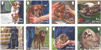 Jersey - Protection of animals - Mint set 8v