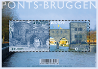 Bélgica - Europa 2018 - Puentes - Minipliego nuevo