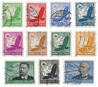 German Empire 1934 - MICHEL 529/539 - Cancelled