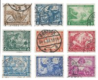 Tyske Rige 1933 - Michel 499-507 / AFA 494-502 - Stemplet